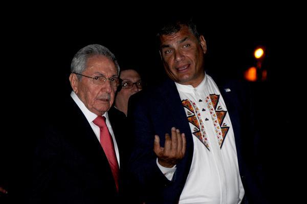 Ecuador, Cuba, Rafael Correa, Raúl Castro