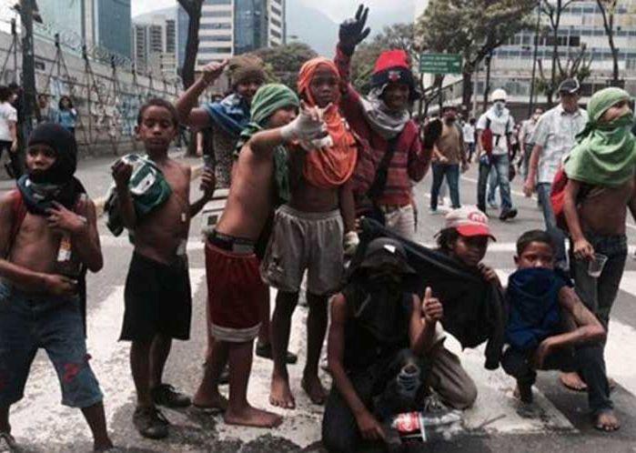 venezuela, unicef, niños, derecha venezolana, violencia