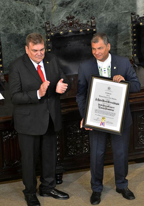 cuba, ecuador, rafael correa, universidad de la habana, honoris causa