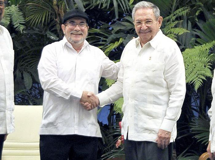 Colombia, paz, guerrilla, Raúl Castro