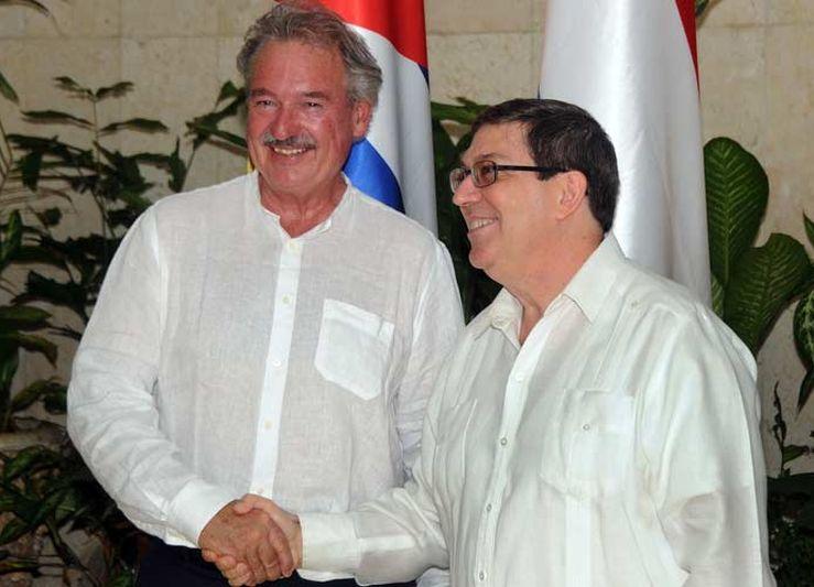 Cancilleres de Cuba y Luxemburgo intercambian en La Habana