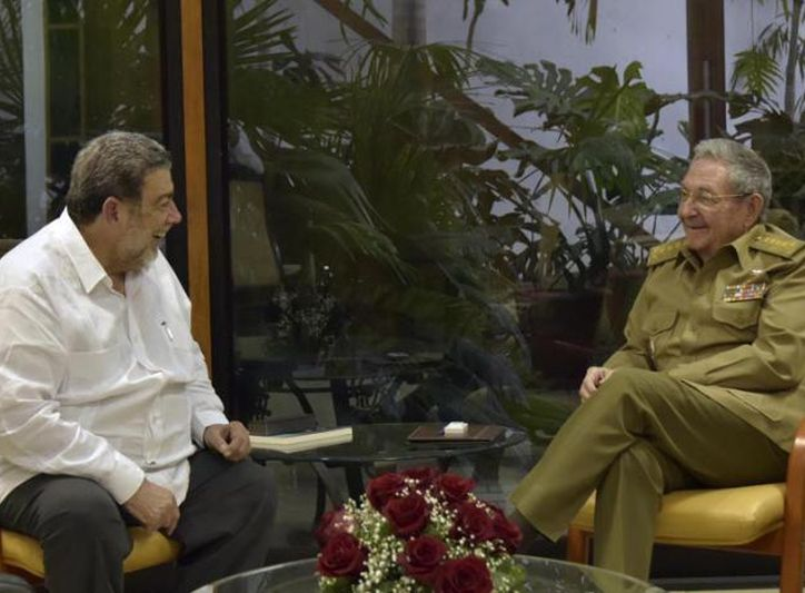 Cuba, San Vicente y las Granadinas, Raúl Castro