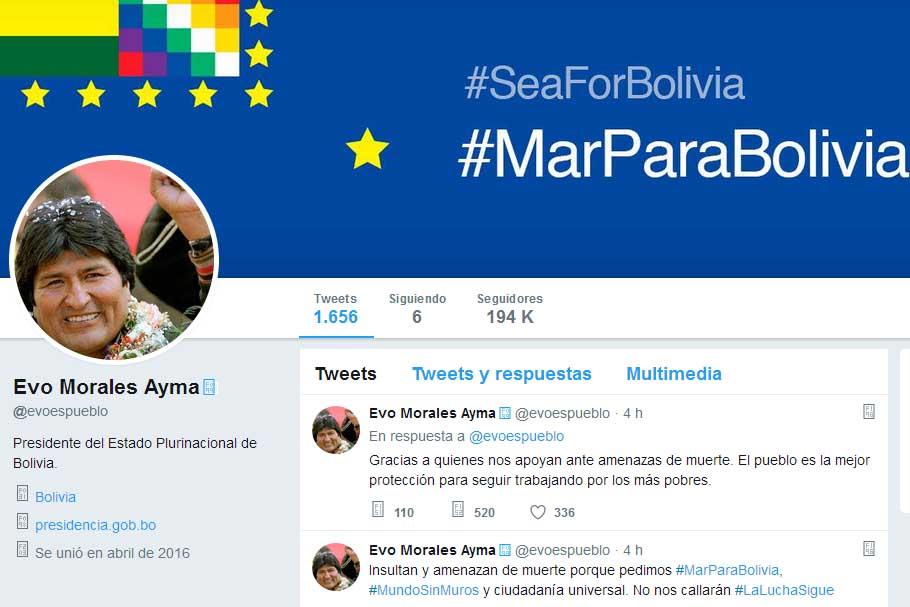 Evo Morales, twitter, Bolivia
