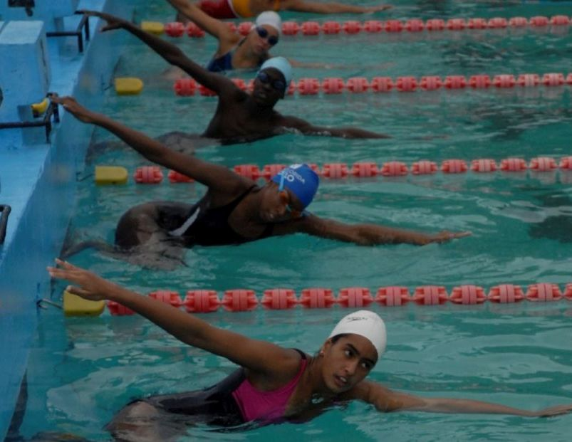 sancti spiritus, natacion, juegos escolares