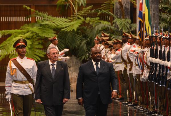 Cuba, Gabón, Raúl Castro