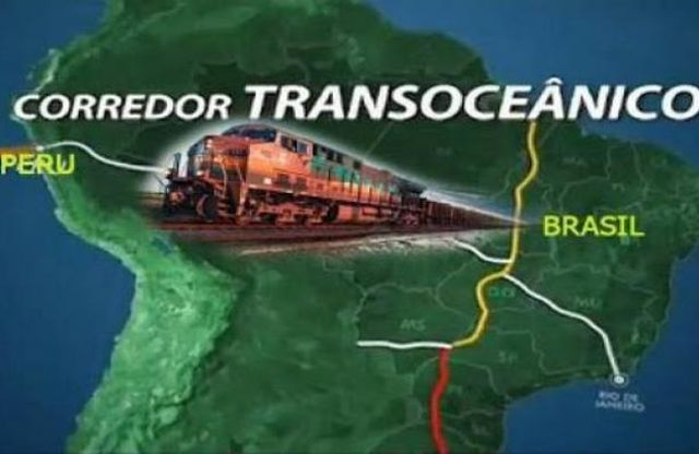 corredor, ferroviario, Brasil, Perú, Bolivia, Suramérica