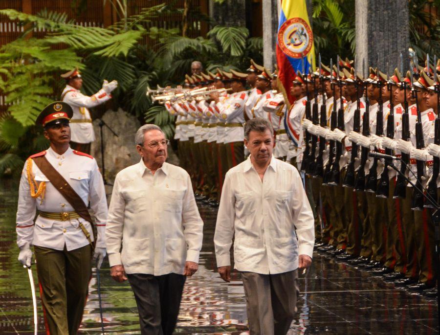 CUBA, COLOMBIA, RAUL CASTRO, JUAN MANUEL SANTOS, COLOMBIA PAZ