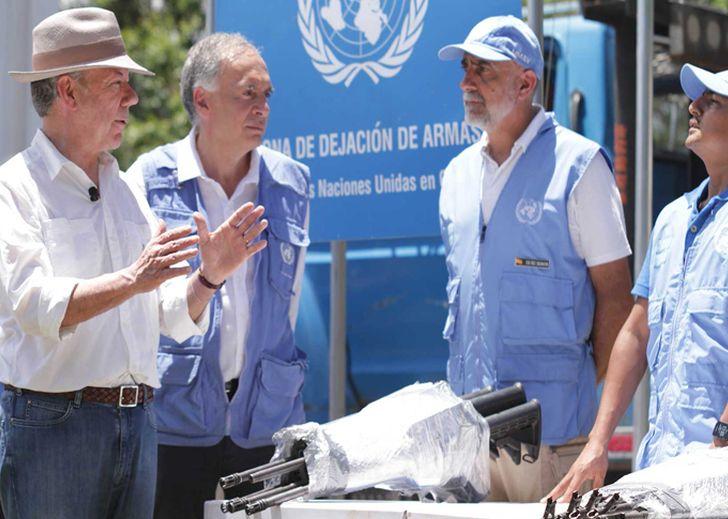 Colombia, paz, FARC-EP, desarme, ONU