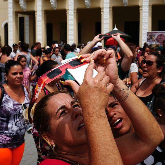 eclipse, sol, Cuba, La Habana