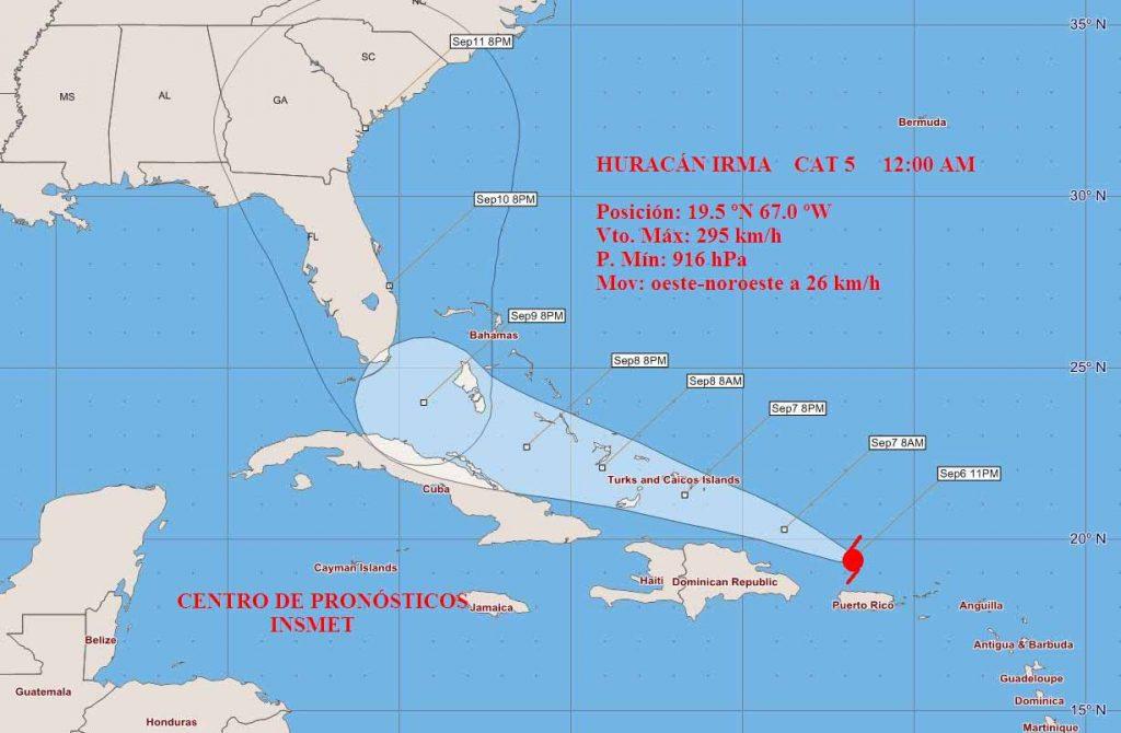 huracán, irma, ciclón, Cuba, Caribe, Meteorología