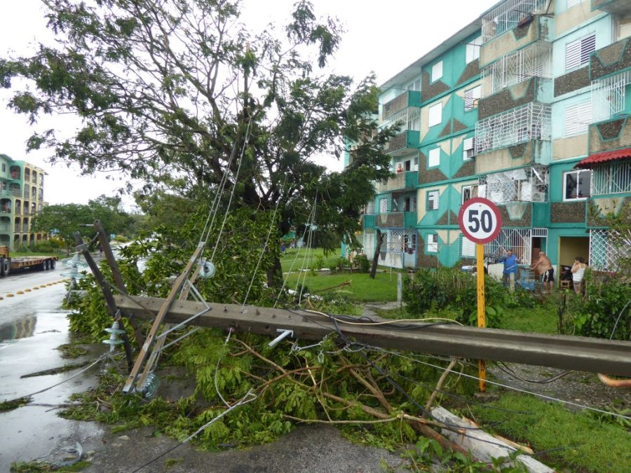 huracan irma, sancti spiritus, intensas lluvias, defensa civil