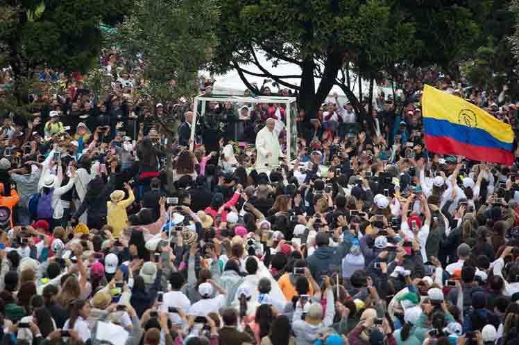 Colombia, Papa Francisco