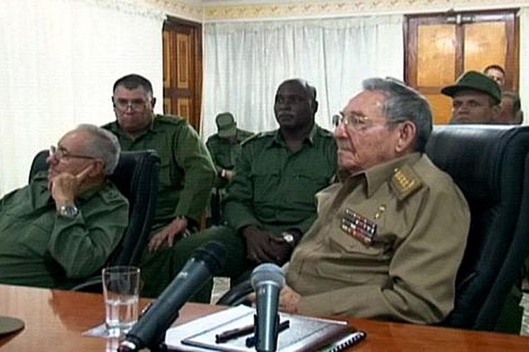Raúl Castro, Cuba, huracán irma, Consejo Defensa Nacional