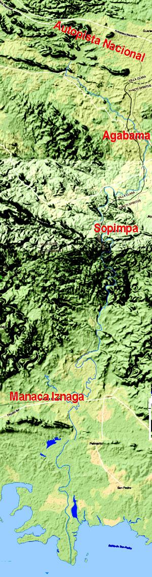 Mapa de la Cuenca del Río Agabama