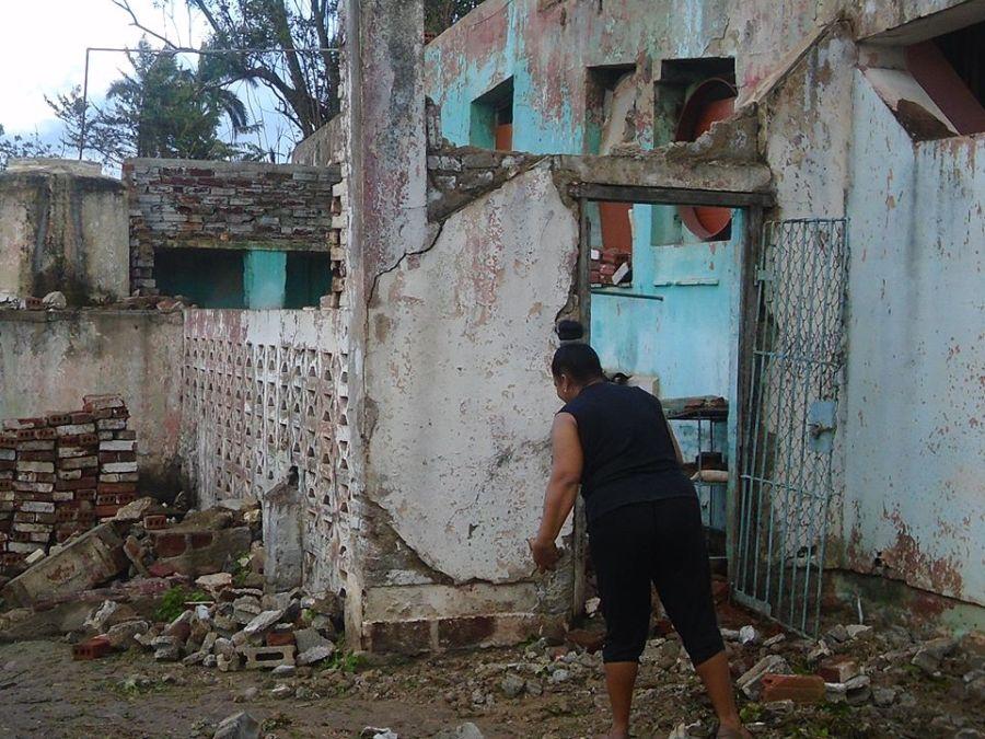 sancti spiritus, jatibonico, huracan irma, viviendas