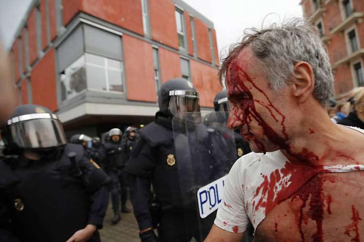 España, cataluña, referndo, violnecia, policía