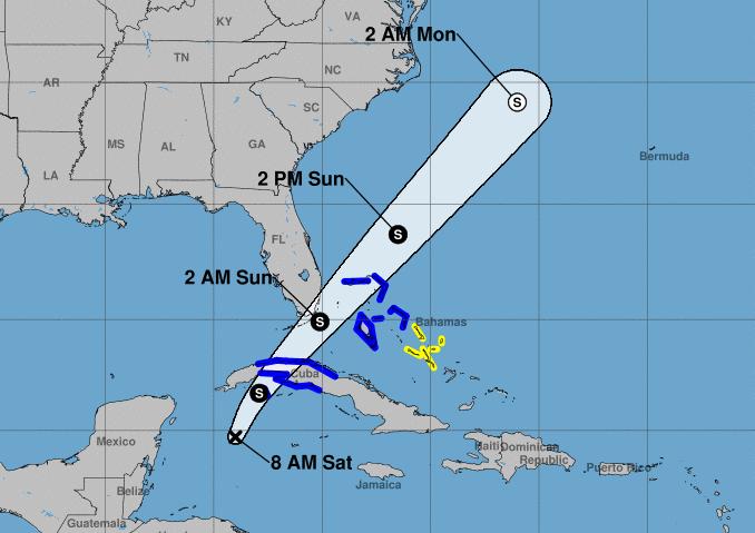 depresión tropical, temporada ciclónica, philippe, cuba, trayectoria
