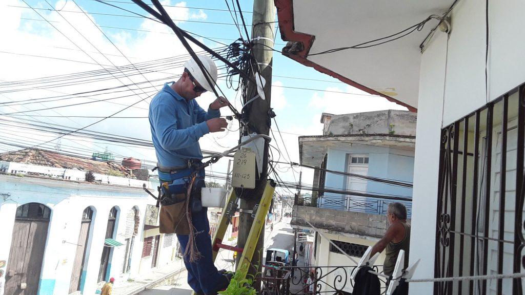 Etecsa, teléfonos, huracán Irma, recuperación, Villa Clara, Sancti Spíritus