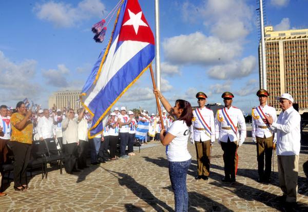 Festival Juventud Estudiantes, Sochi, Cuba, Bandera