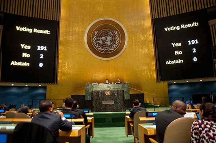 bloqueo, ONU, Cuba, Estados Unidos