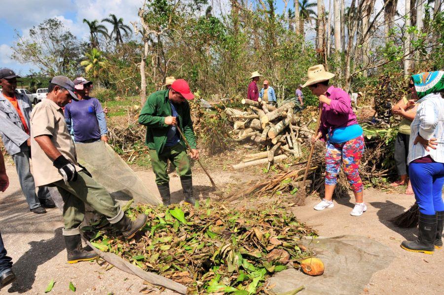 sancti spiritus, huracan irma, materiales de la construccion, recuperacion, yaguajay
