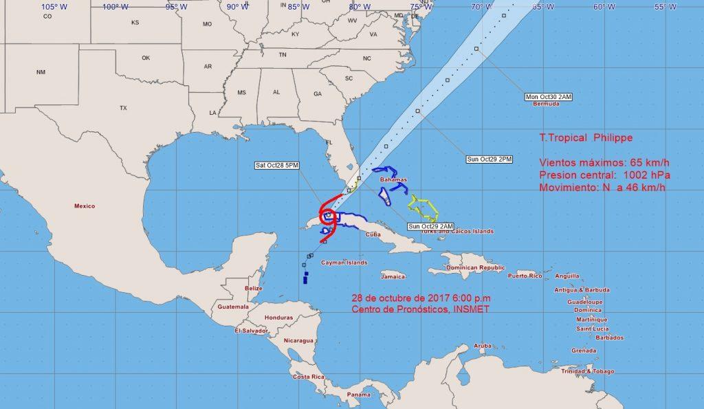 tormenta tropical, phillipie, Cuba