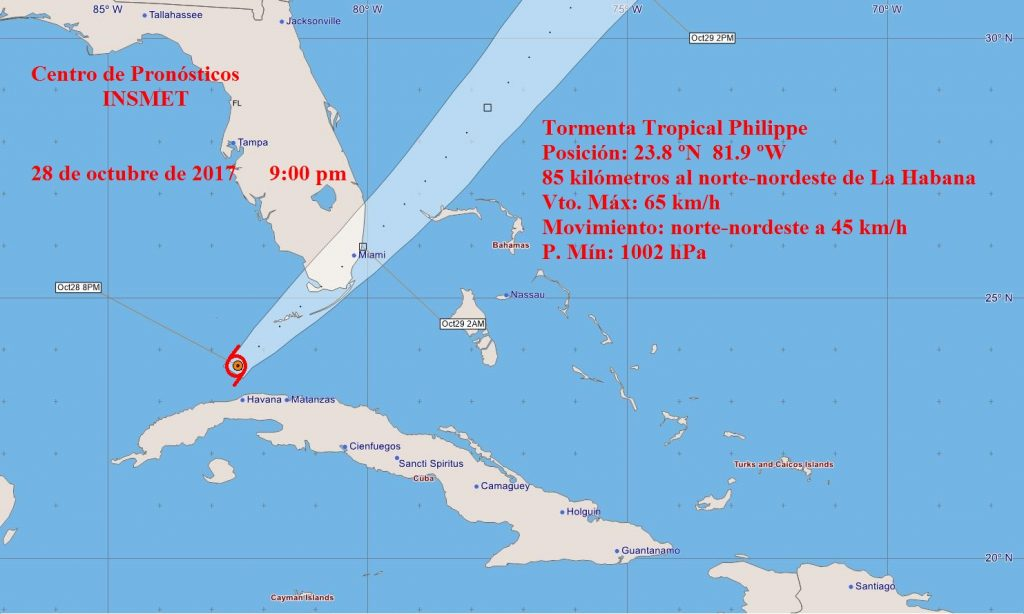 tormenta tropical, phillipe, meteorología, Cuba