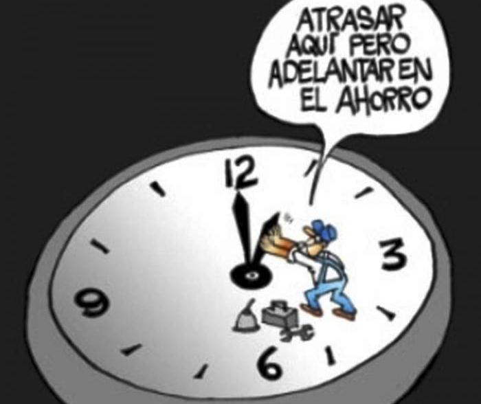 horario normal, ahorro, energía
