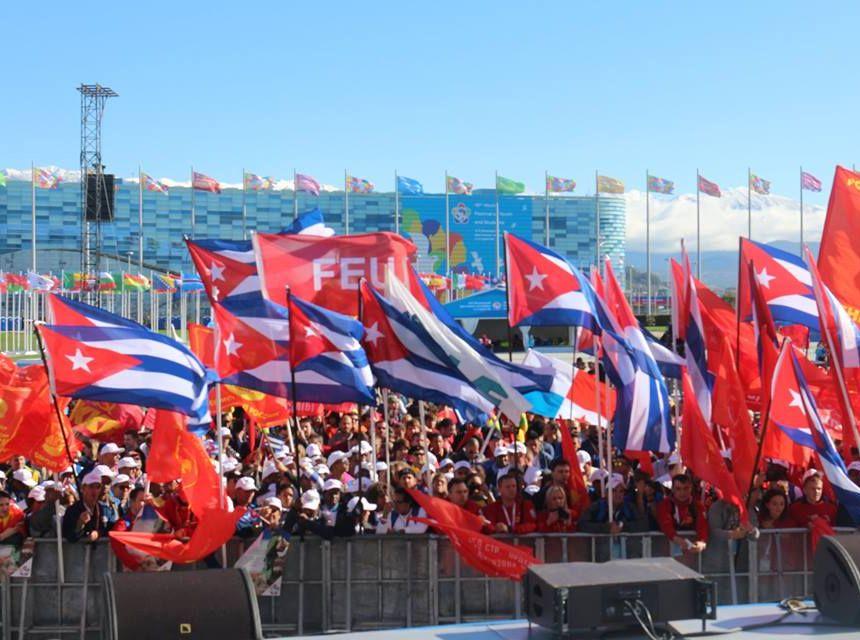 rusia, sochi, festival mundial de la juventud y los estudiantes, bloqueo de eeuu a cuba, fidel castro