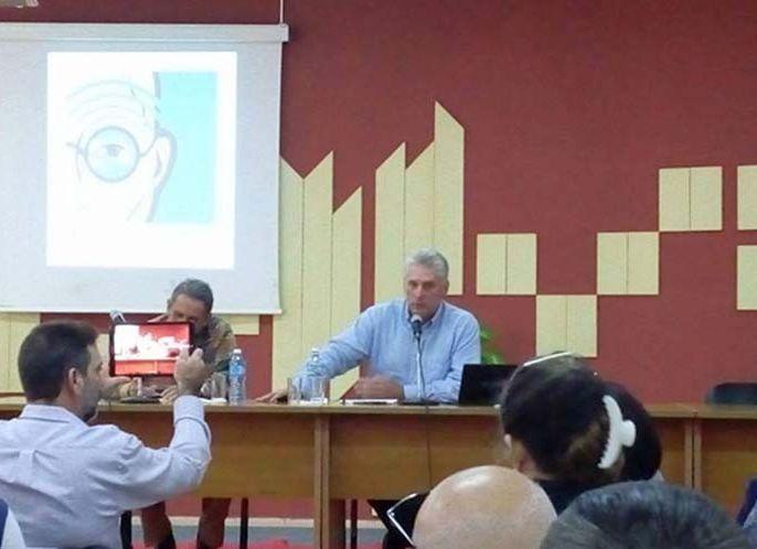 Prensa, periodistas, comunicación, Díaz-Canel