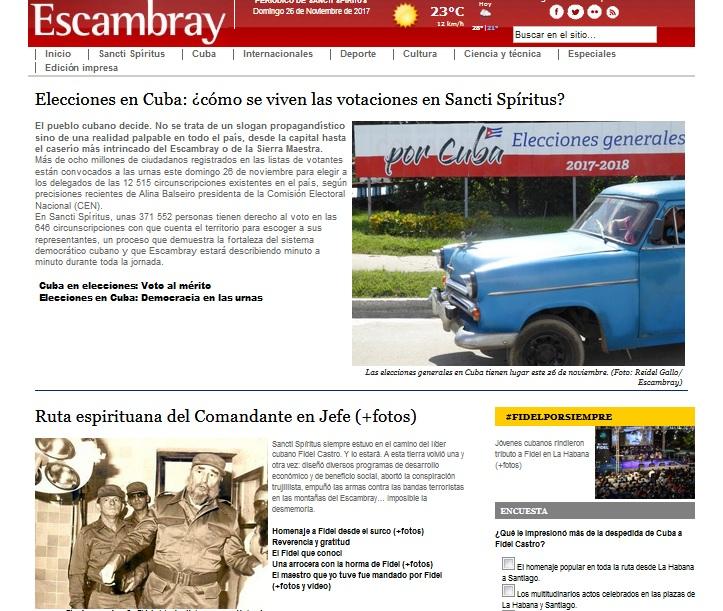 elecciones, cuba, elecciones generales, sancti spíritus, portada, escambray