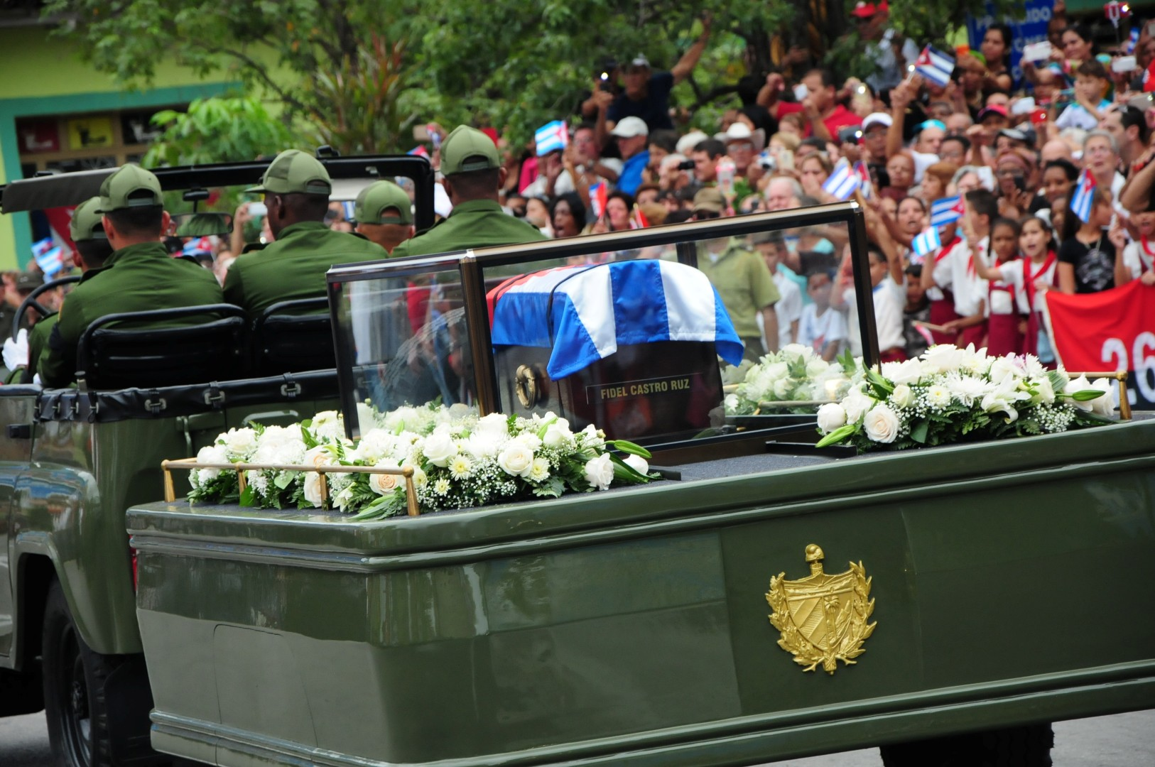 Fidel Castro, Fidel por siempre, Sancti Spíritus, caravana, Cuba