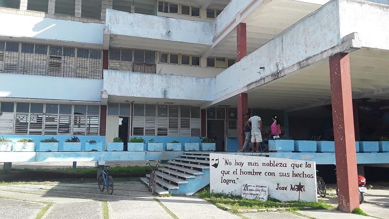 Escuela Secundaria Básica Urbana Camilo Cienfuegos, de Yaguajay, Sancti Spíritus, Huracán Irma