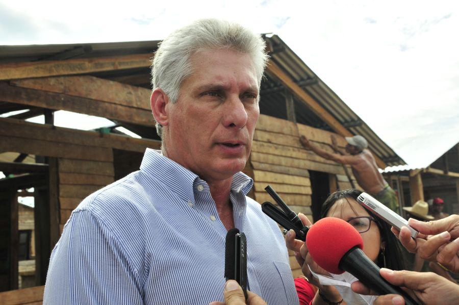 sancti spiritus, miguel diaz-canel, construccion de viviendas, yaguajay, huracan irma