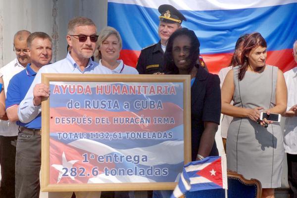 Rusia, Cuba, Huracán Irma, recuperación