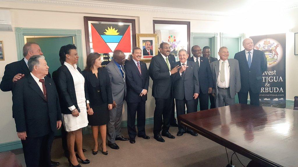 Raúl Castro, Antigua y Barbuda, Caribe, Cuba