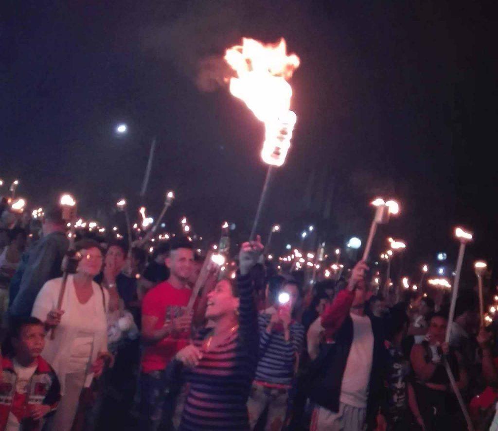 José Martí, antorchas, marcha, Sancti Spíritus