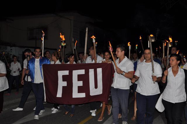 José Martí, Marcha antorchas, FEU, UJC, jóvenes