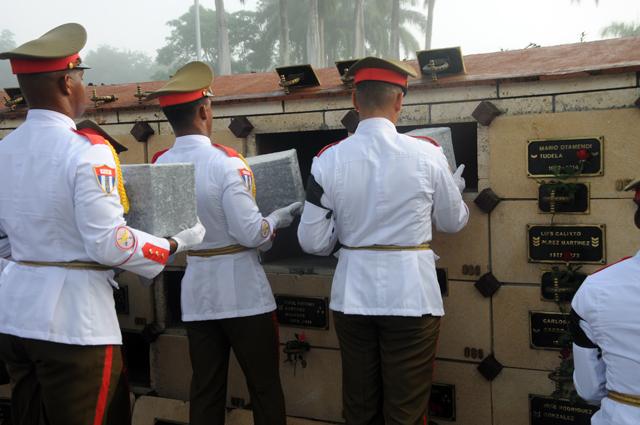 II Frente, combatientes, inhumación, Santiago de Cuba