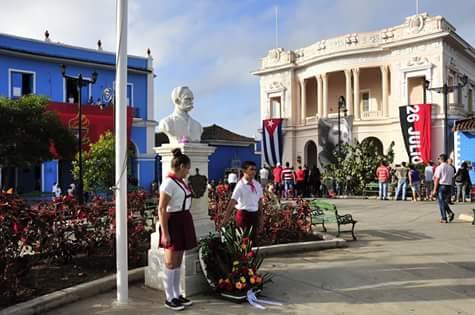 José Martí, natalicio, desfile martiano, Sancti Spíritus