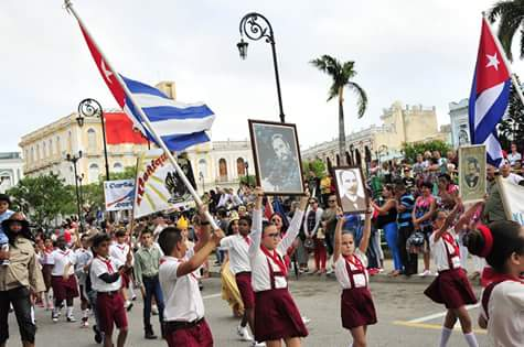 José Martí, desfile, pioneros, Sancti Spíritus