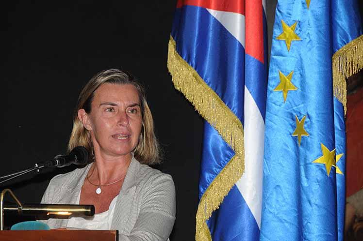 Federica Mogherini, Unión Europea, Cuba, bloqueo, EE.UU.