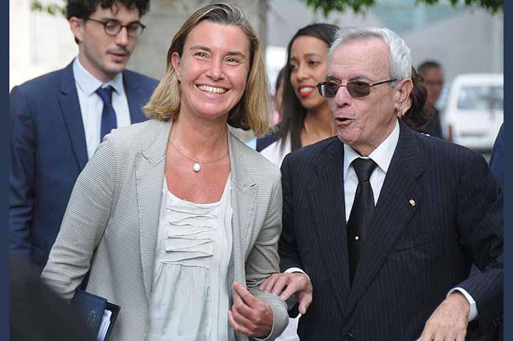 Federica Mogherini, Unión Europea, Cuba, Habana Vieja