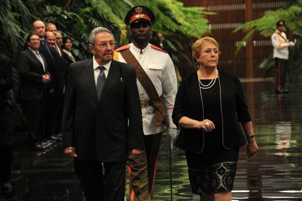 Cuba, Chile, Raúl Castro, Michelle Bachelet