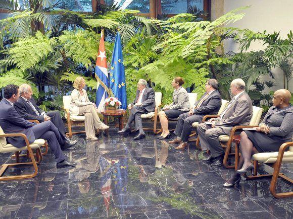 Raúl Castro, Unión Europea, Cuba, Federica Mogherini