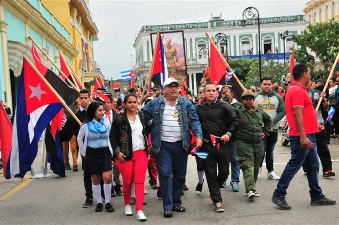 sancti spiritus, caravana de la libertad, ejercito rebelde, fidel castro, revolucion cubana