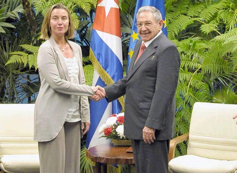 cuba, Raúl Castro, Unión Europea, Cuba, Federica Mogherini