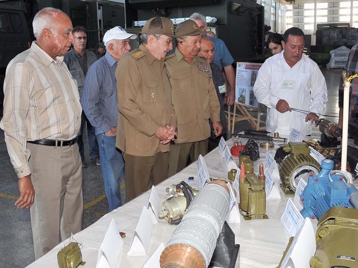Raúl Castro, industria militar, Mayabeque