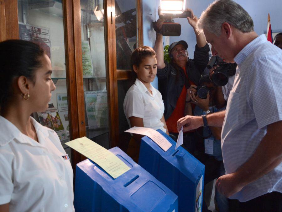 cuba, elecciones generales en cuba 2018, miguel diaz-canel