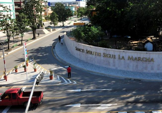 sancti spiritus, mural de la patria, servicios comunales, cimex s.a, la esquina